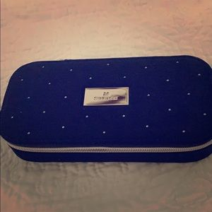 Swarovski NAVY BLUE velvet travel case